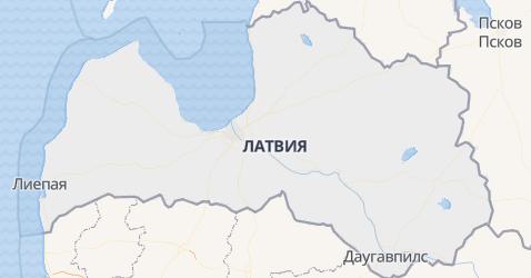 Латвия - карта