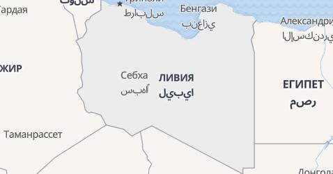 Ливия - карта