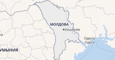 Молдова - карта