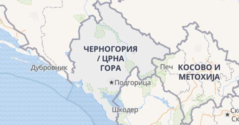 Черногория - карта