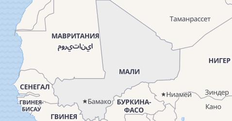 Мали - карта