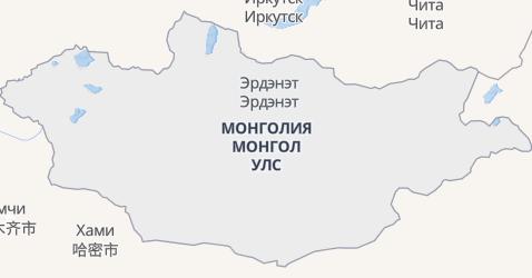 Монголия - карта