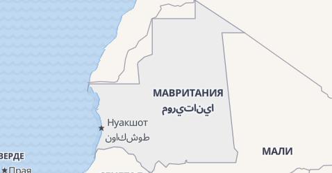 Мавритания - карта
