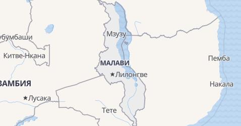 Малави - карта