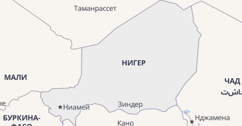 Нигер - карта