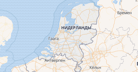 Нидерланды - карта