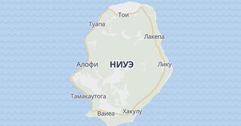 остров Ниуе - карта