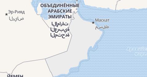 Оман - карта