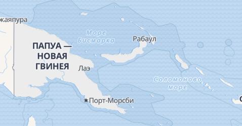 Папуа-Новая Гвинея - карта