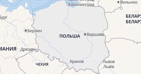 Польша - карта