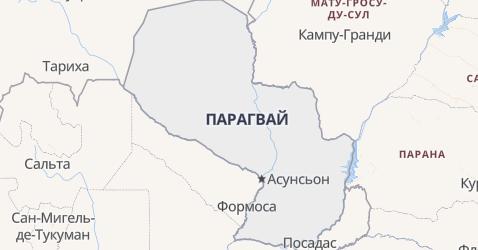 Парагвай - карта