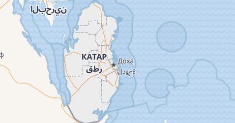 Катар - карта