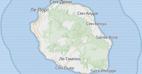 Реюньон - карта