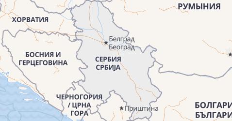 Сербия - карта