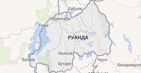 Руанда - карта
