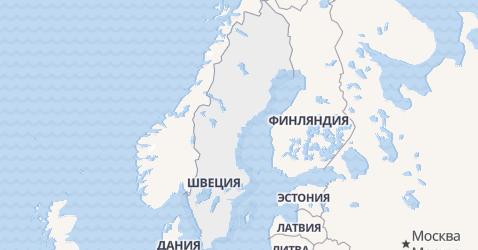 Швеция - карта