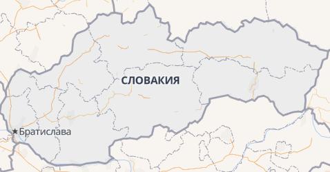 Словакия - карта