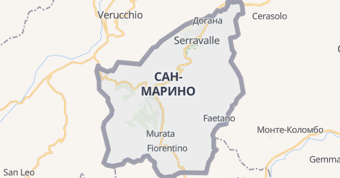Сан-Марино - карта
