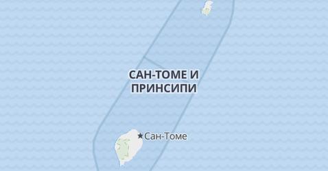 Сан-Томе и Принсипи - карта
