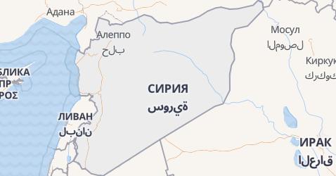Сирия - карта