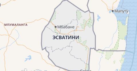 Свазиленд - карта