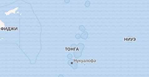 Тонга - карта