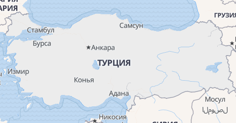 Турция - карта