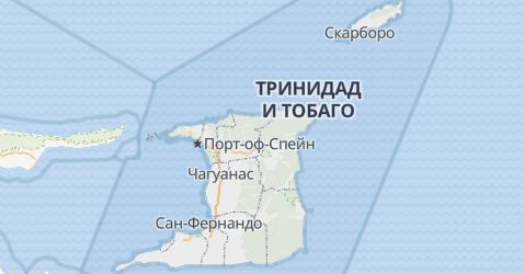 Тринидад и Тобаго - карта