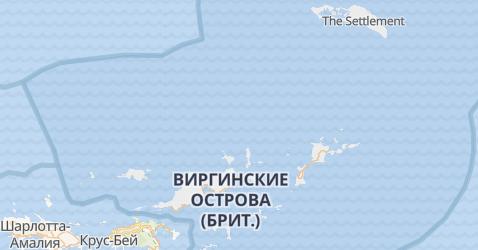 Британские Виргинские острова - карта