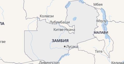 Замбия - карта