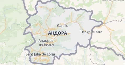 Андорра - мапа
