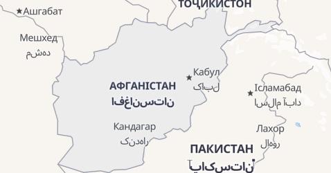 Афганістан - мапа