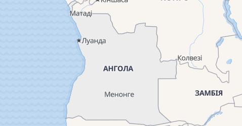 Ангола - мапа