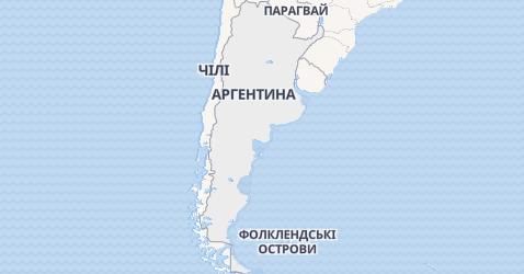 Аргентина - мапа
