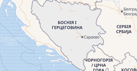 Боснія та Герцеговина - мапа