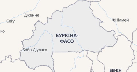 Буркіна-Фасо - мапа