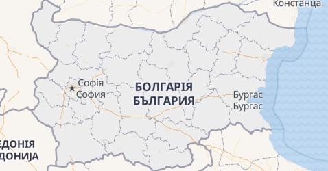 Болгарія - мапа