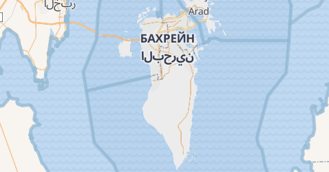 Бахрейн - мапа