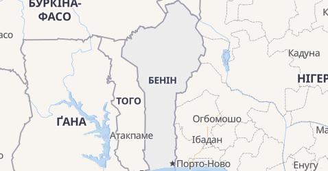 Бенін - мапа