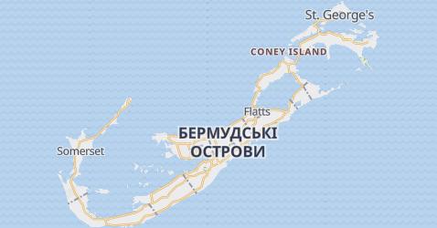Бермудські острови, Великобританія - мапа