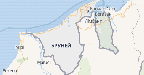 Бруней - мапа