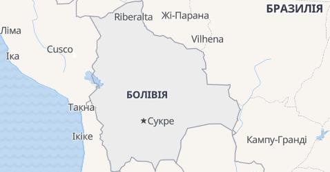 Болівія - мапа
