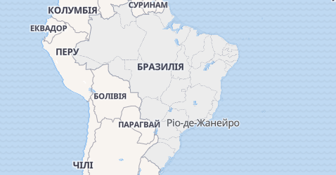 Бразилія - мапа