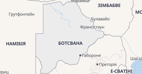 Ботсвана - мапа
