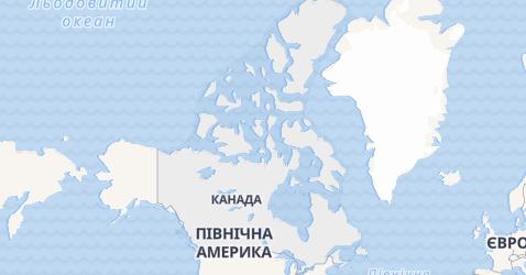Канада - мапа