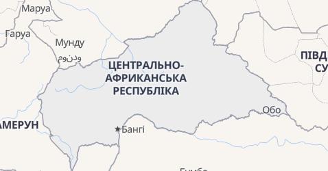 Центрально-Африканська Республіка - мапа