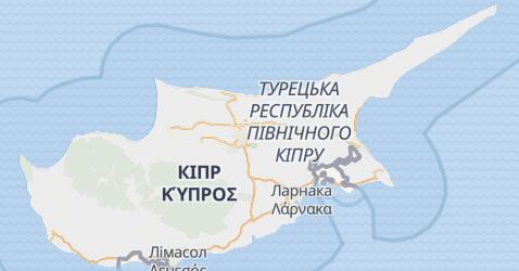 Кіпр - мапа