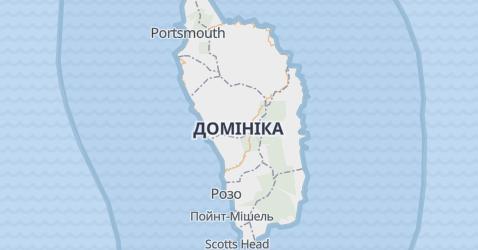 Домініка - мапа