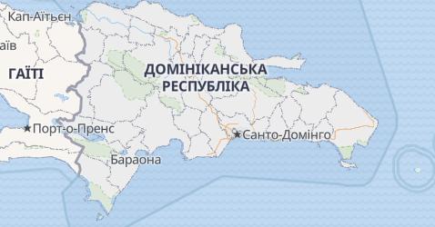 Домініканська Республіка - мапа