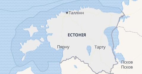 Естонія - мапа